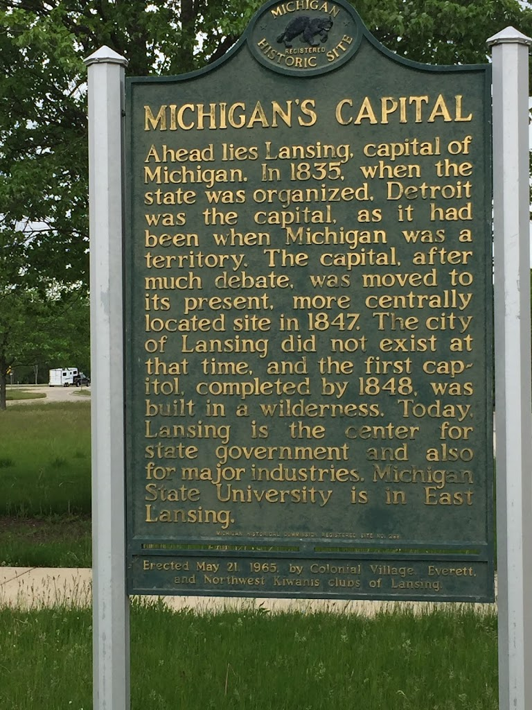 MICHIGAN'S CAPITAL   Ahead lies Lansing, capital of Michigan.  In 1835, when the state was organized, Detroit was the capital, as it had been when Michigan was a territory.  The capital, after much ...