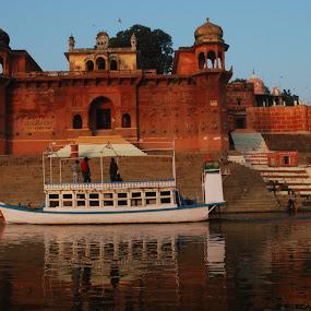 Banaras Ghat by Arun Vishwakarma - Landscapes Travel ( nature, effect, color, art, photography )