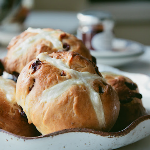 Spiced Cranberry Hot Cross Buns