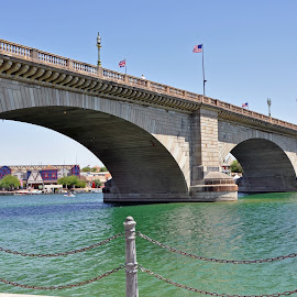 London Bridge by Dawn Hoehn Hagler - Buildings & Architecture Bridges & Suspended Structures ( london, london bridge, arizona, lake havasu, bridge )