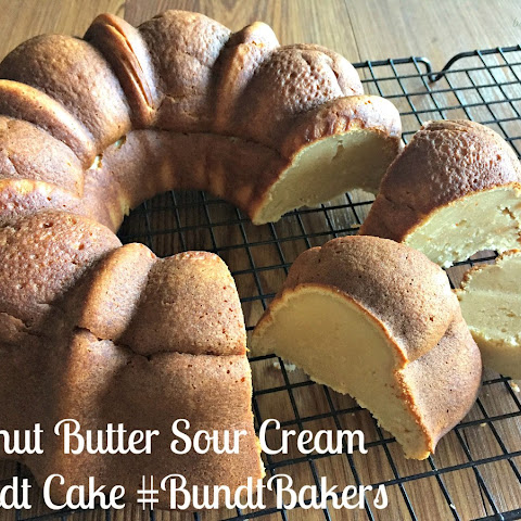 Peanut Butter Sour Cream Bundt Cake #BundtBakers