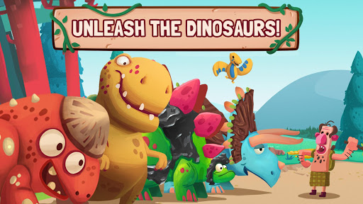 Dino Bash - Dinos v Cavemen - screenshot