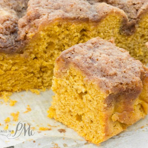 Easy Buttermilk Pumpkin Coffee Cake with Brown Sugar Streusel