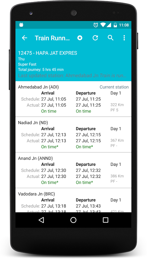 Indian Rail Info App PRO Screenshot 2