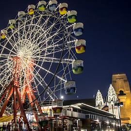 Luna Park Sydney  by Jason Kryger - City,  Street & Park  Amusement Parks ( luna, ferris, wheel, park, sydney )