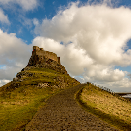 Lindisfarne Castle, Holy Island. by Phil Reay - Buildings & Architecture Other Exteriors ( shed, holy, castle, lindisfarne, boat, island )