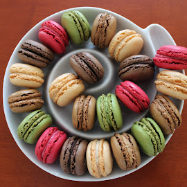 Macaroooons by IL Oveart - Food & Drink Candy & Dessert ( sweet, colorfull, cookies, sugar, macaroons )