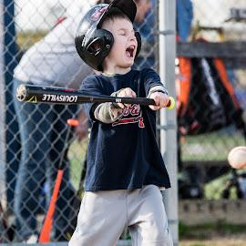 Power-up! by Cameron Lasley - Sports & Fitness Baseball ( bat, yell, sports, little league, baseball, kids )