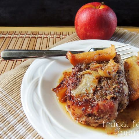 Slow Cooker Apple Butter Pork Chops