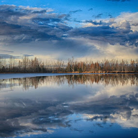 Clouds by Patricia Phillips - Landscapes Waterscapes ( lakes alaska reflections clouds )