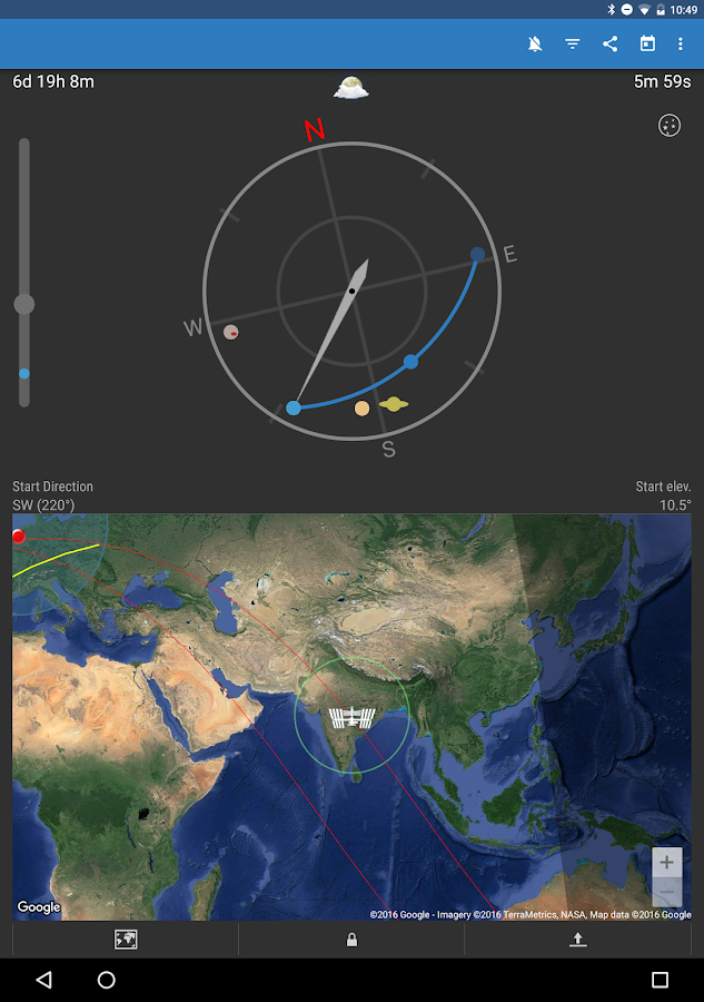ISS Detector Satellite Tracker Screenshot 8