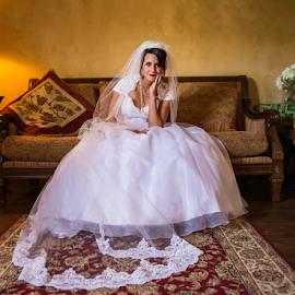 by Trisha Payne - Wedding Bride ( love, wedding, getting ready, ceremony, bride )