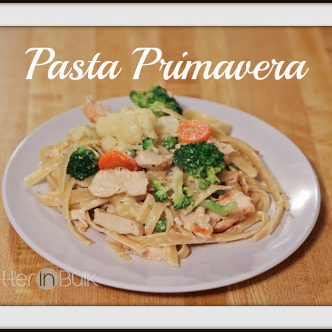 Pasta Primavera with Grilled Chicken
