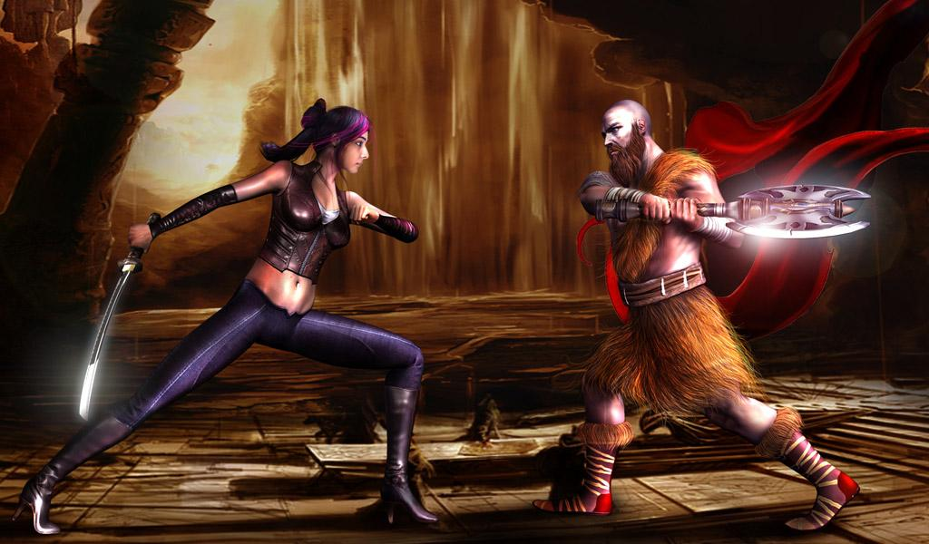 Katya action fighter Screenshot