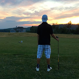 Nicholas on the 9th Tee at Crystal Springs.... by Joseph Tredici - Sports & Fitness Golf