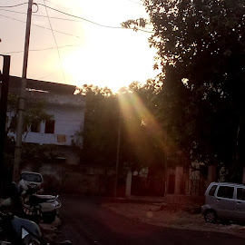 rays of sun by Suraj Thakre - Novices Only Landscapes ( nature, sunset, india, evening, sun, city )