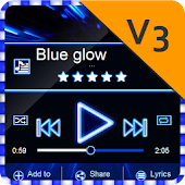 Blue glow PlayerPro Skin