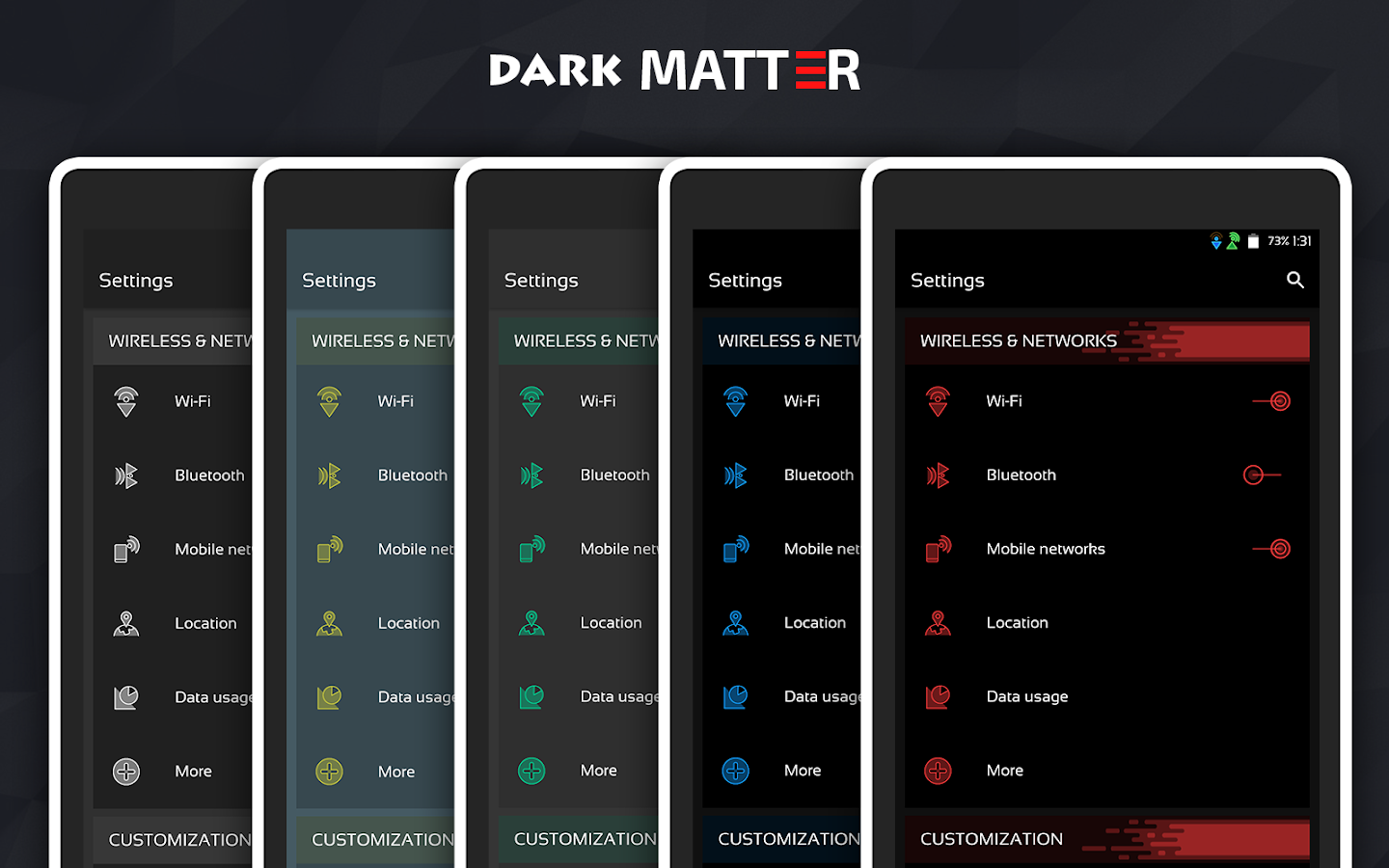 Dark Matter CM13/CM12.1 Theme Screenshot