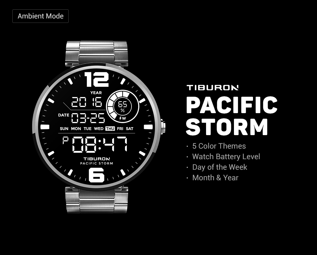 Pacific Storm watchface by Tib Screenshot 4