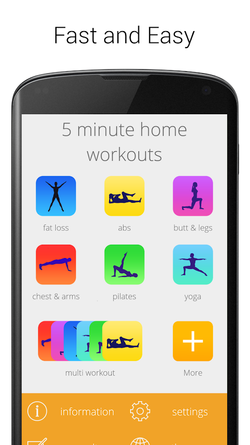 5 Minute Home Workouts Exercises For Men Women Screenshot