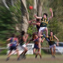 Aussie Rules Noosa by Bruce Porter - Sports & Fitness Australian rules football