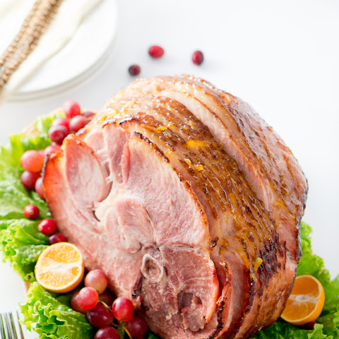 Orange Dijon Glazed Ham