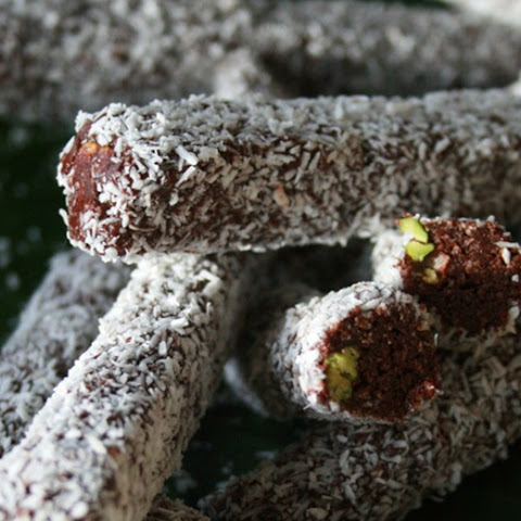 Spearmint Pistachio Chocolate Rolls