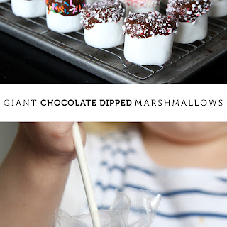 Giant Chocolate-Dipped Marshmallows