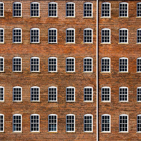 factory windows by John  Pemberton - Buildings & Architecture Architectural Detail ( patterns, window, brick, minimalism, windows, architecture,  )