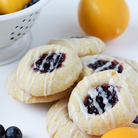 Lemon Blueberry Thumbprint Cookies