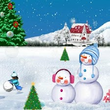 Christmas Snow Night Wallpaper