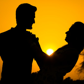 Love and sunset by Lakshya Sharma - People Couples ( #couple #love #lovebirds #sunset #sunsets,  )