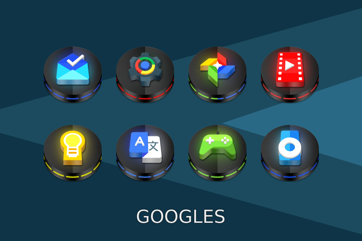 Neon 3D icon Pack Screenshot 6