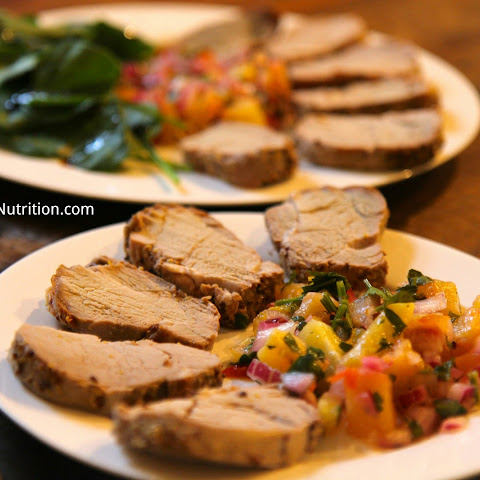 Roasted Pork Tenderloin with Pineapple Salsa