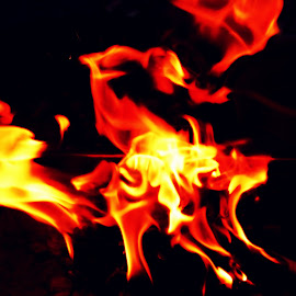feel the fire by Debarpan Naha - Abstract Fire & Fireworks ( abstract, macro, nikon, fire, nightscape )