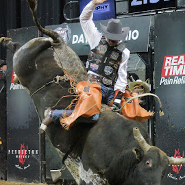 Rank'N Around by Brian  Shoemaker  - Sports & Fitness Rodeo/Bull Riding ( rank, cowboy, bullrider, pbr, rodeo, bull )