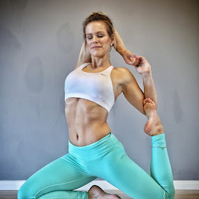 Turquoise Poise by Ben Rohleder - Sports & Fitness Fitness ( blonde, girl, strong, flexible, yoga )