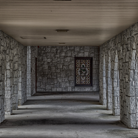 Hallway of Stone by Liam Douglas - Buildings & Architecture Places of Worship ( church., exterior, outdoors, stone, walkway, hallway, places of worship )
