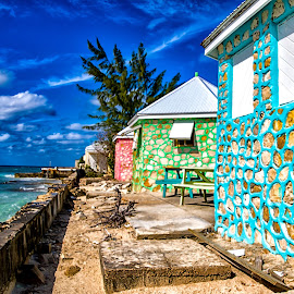 Stone Huts on Grand Turk by Carol Ward - Buildings & Architecture Other Exteriors ( turks & caicos, grand turk, beautiful beach, beach, stone huts,  )