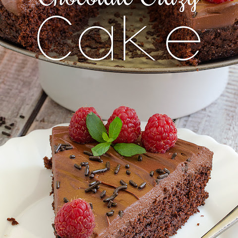 Chocolate Crazy Cake (no eggs, milk or butter)