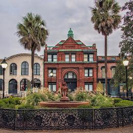 Cotton Exchange by Deborah Felmey - Buildings & Architecture Public & Historical ( savannah, historic landmark, buildings, architecture, landscape, cotton exchange )
