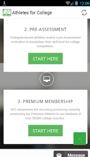 Athletes for College - screenshot