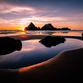 Sutro by Andrew Gilbert - Landscapes Waterscapes ( water, sunset, ocean, beach, san francisco )