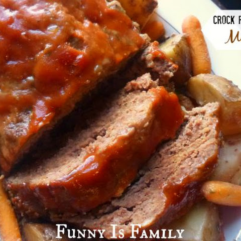 Crock Pot Meatloaf and Vegetables