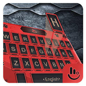 Cool Red Machine Armor Keyboard Theme For PC