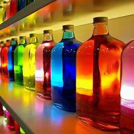 RGB by Igor Strejic - Artistic Objects Glass ( wien, colorful, fine art, bottle )