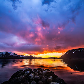 Colorful sunset by Benny Høynes - Landscapes Sunsets & Sunrises ( canon, bennyhøynes, sunset, colors, vesterålen, andøy )