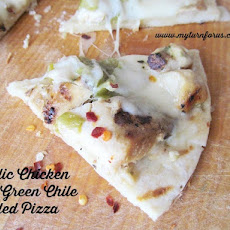 Garlic Chicken and Green Chile Pizza