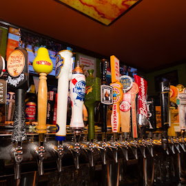 tap handles by John Brock - Food & Drink Alcohol & Drinks ( beer, colorful, alcohol, restaurant, bar )