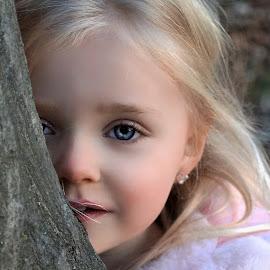 Peek by Cheryl Korotky - Babies & Children Child Portraits